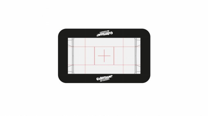 Frame pads black - complete set - 50 mm foldable